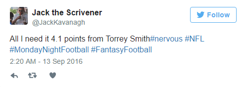 Torrey Smith Tweet