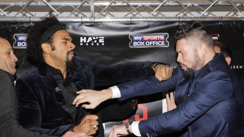 david haye tony bellew press conference punch