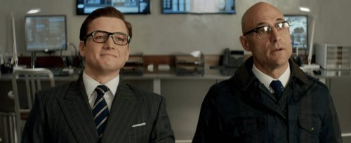 kingsman the golden circle - eggsy and merlin