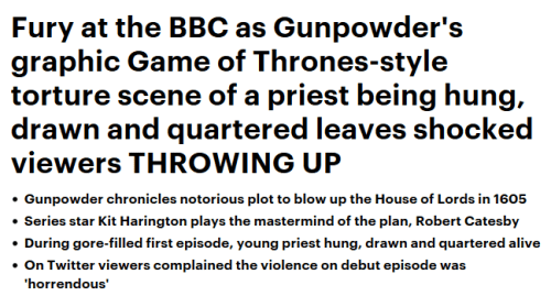 Daily Mail - Gunpowder headline