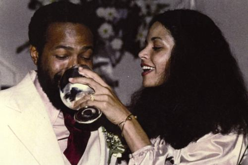 Marvin Gaye and Janis Hunter