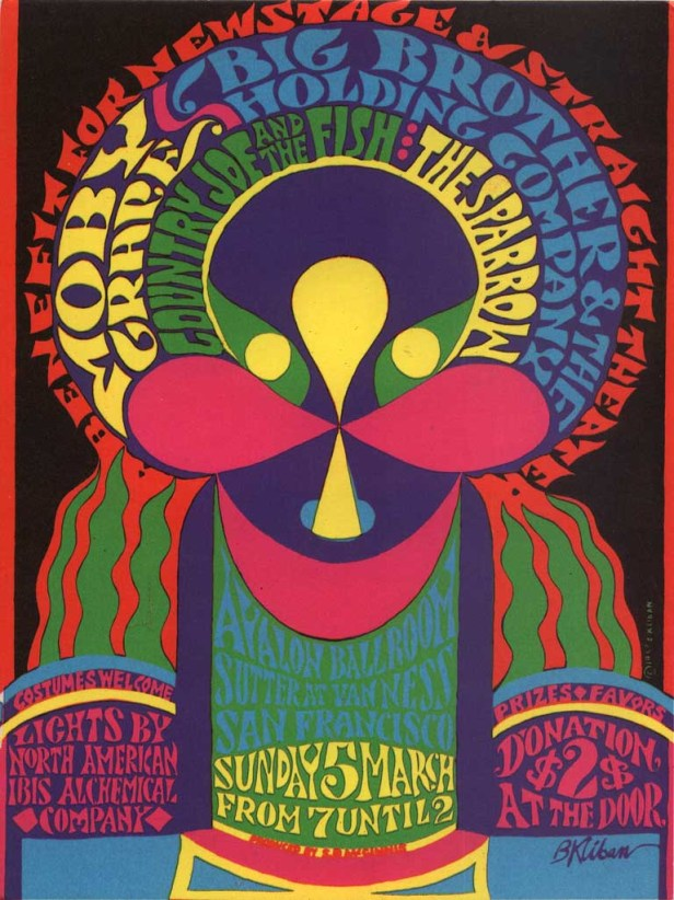 Moby Grape, Avalon ballroom 5th March 1967 , by B. Kliban