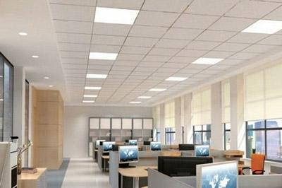 OfficeceilingwithsquareLEDtroffers  Culture Lighting