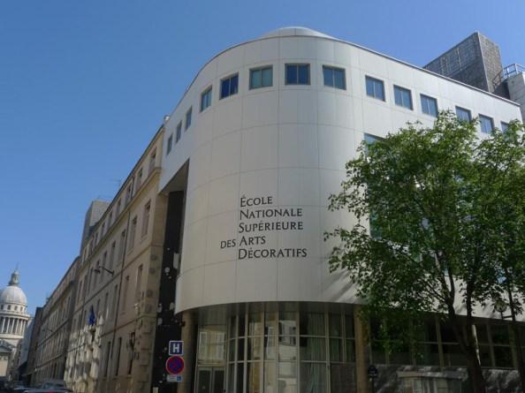 l'École, façade extérieure, angle des rues d'Ulm et d'Erasme - © Photo EnsAD/Laurence Sudre