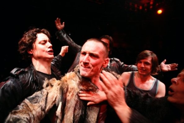 "Domen Valič, Marko Mandić, Stipe Kostanić, Jurij Drevenšek, Milena Zupančič in ""Macbeth After Shakespeare""   Photo by Miha Frass and SONDA"