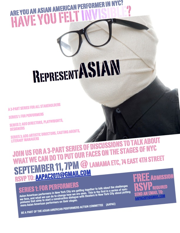 "AAPAC's flyer for the October 2011 ""RepresentAsian"" movement"