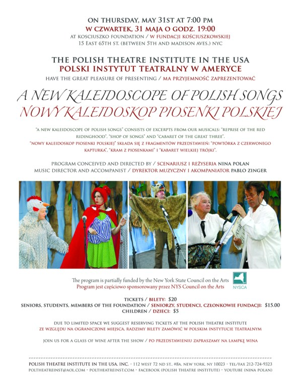 "Polish Theatre Institute in the USA's ""A New Kaleidoscope of Polish Songs"""