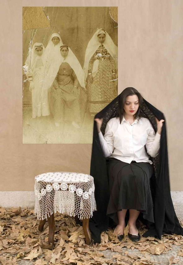 Arman Stepanian, Untitled, 2012,120x80 cm, Mixed media collage and photography | Courtesy of Etemad Dubai