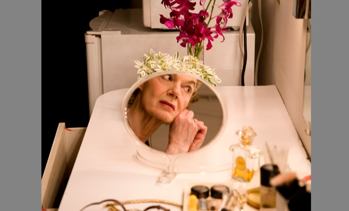 Marian Seldes as captured backstage by Rivka Katvan | Photography by Rivka Katvan