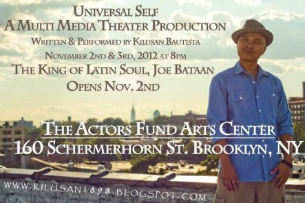 "Kilusan Bautista's solo show ""Universal Self"" performs Nov. 2 and 3 in Brooklyn"