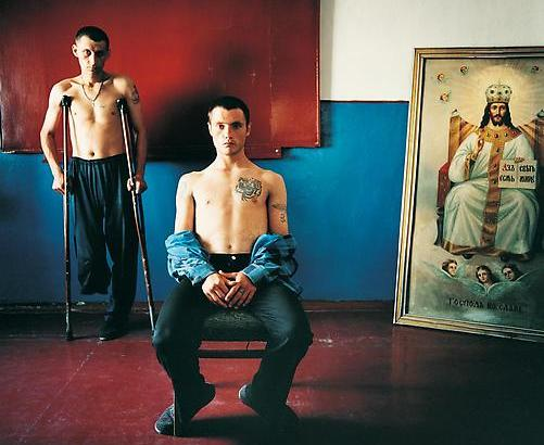 """Religion Class, Men's Prison, Ukraine, 2008"" Photo by Michal Chelbin 