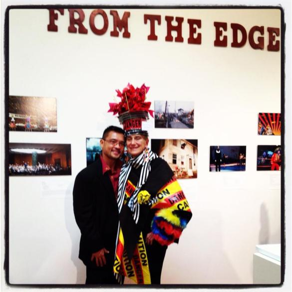 Day 4 | Me and the performance artist Pat Oleszko. Opening reception of FROM THE EDGE: PERFORMANCE DESIGN IN THE DIVIDED STATES OF AMERICA at LaMaMa LaGalleria.