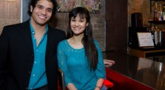 Broadway stars Adam Jacobs and Ali Ewoldt at the Ugly Kitchen in New York City