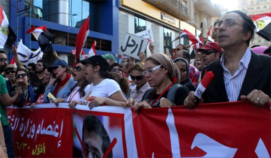 Egypt artists march. 30 June 2013 (Photo: Ati Metwaly)