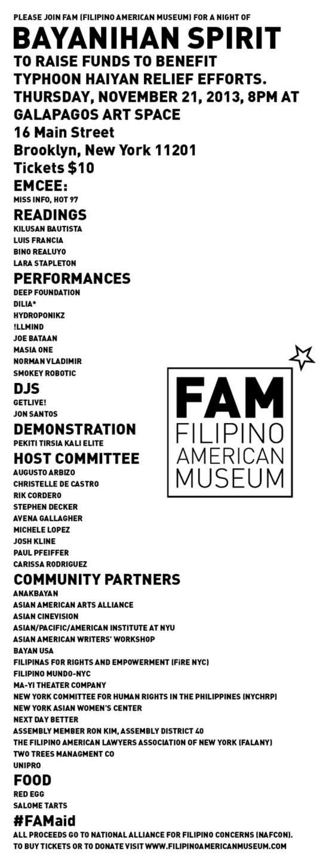 FM NYC joins FAM Filipino American Museum Bayanihan Spirit