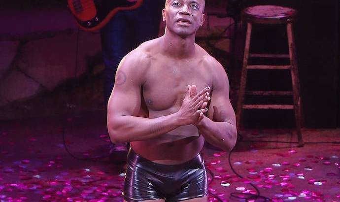 Taye Diggs first night on Broadway in Hedwig and the Angry Inch at the Belasco Theatre   Photo by Joseph Marzullo/WENN.com