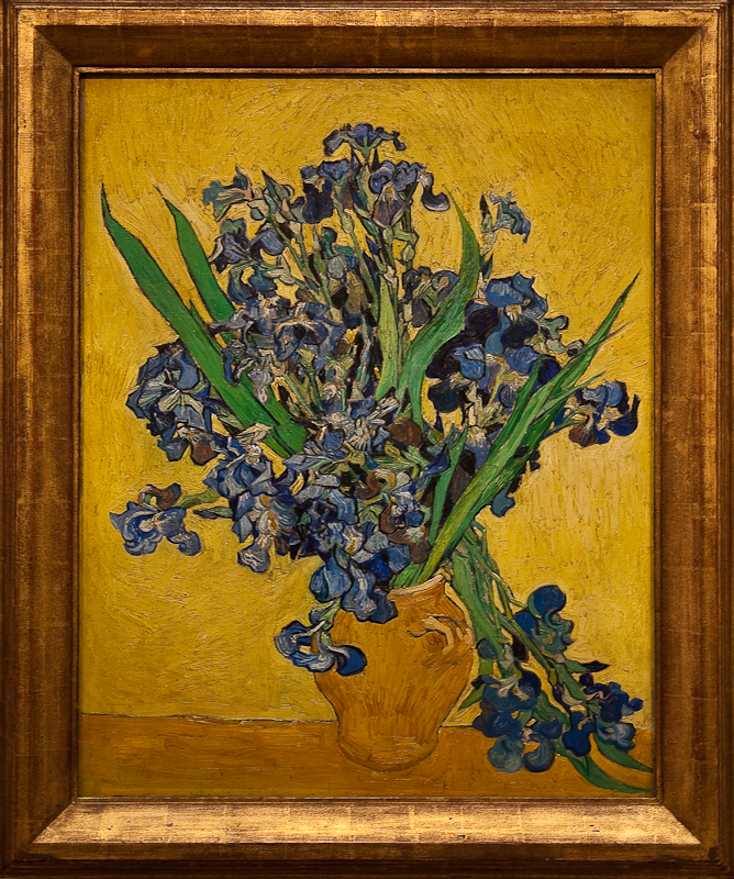 "THE MET |  Seen live in New York, Van Gogh's two ""Irises"" will knock you out"