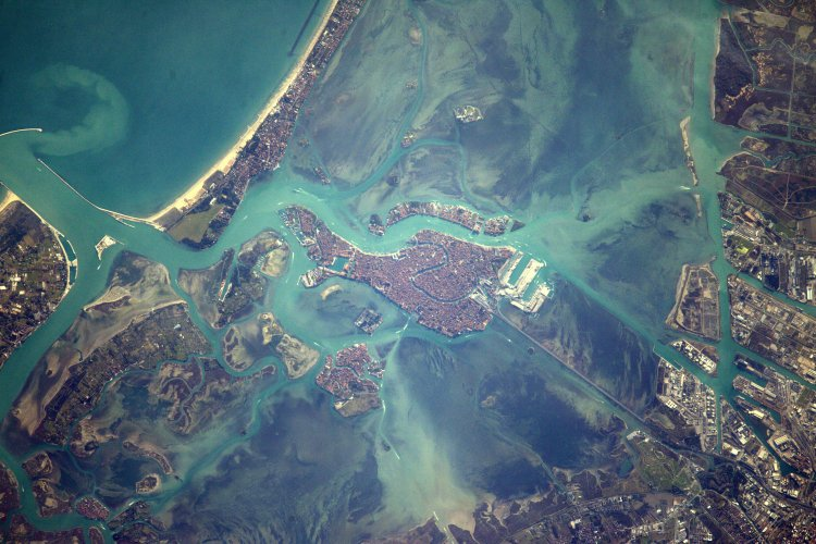 "NASA IMAGE OF THE DAY | Space Station Flight Over Venice       Expedition 50 Flight Engineer Thomas Pesquet of the European Space Agency shared this photograph from the International Space Station on Feb. 14, 2017, writing, ""Venice, city of gondoliers and the lovers they carry along the canals. Happy Valentine's Day!"""