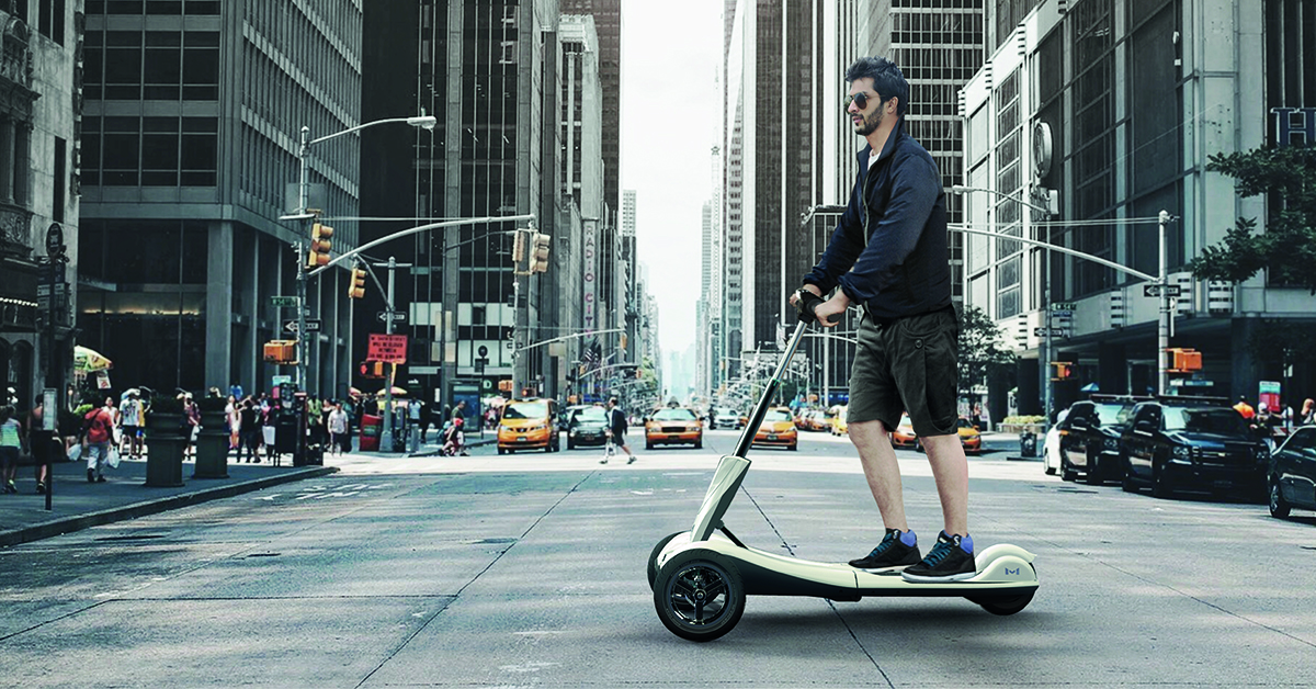 Sick of commuting? Eco-friendly 3-wheel Transboard could be the next best thing