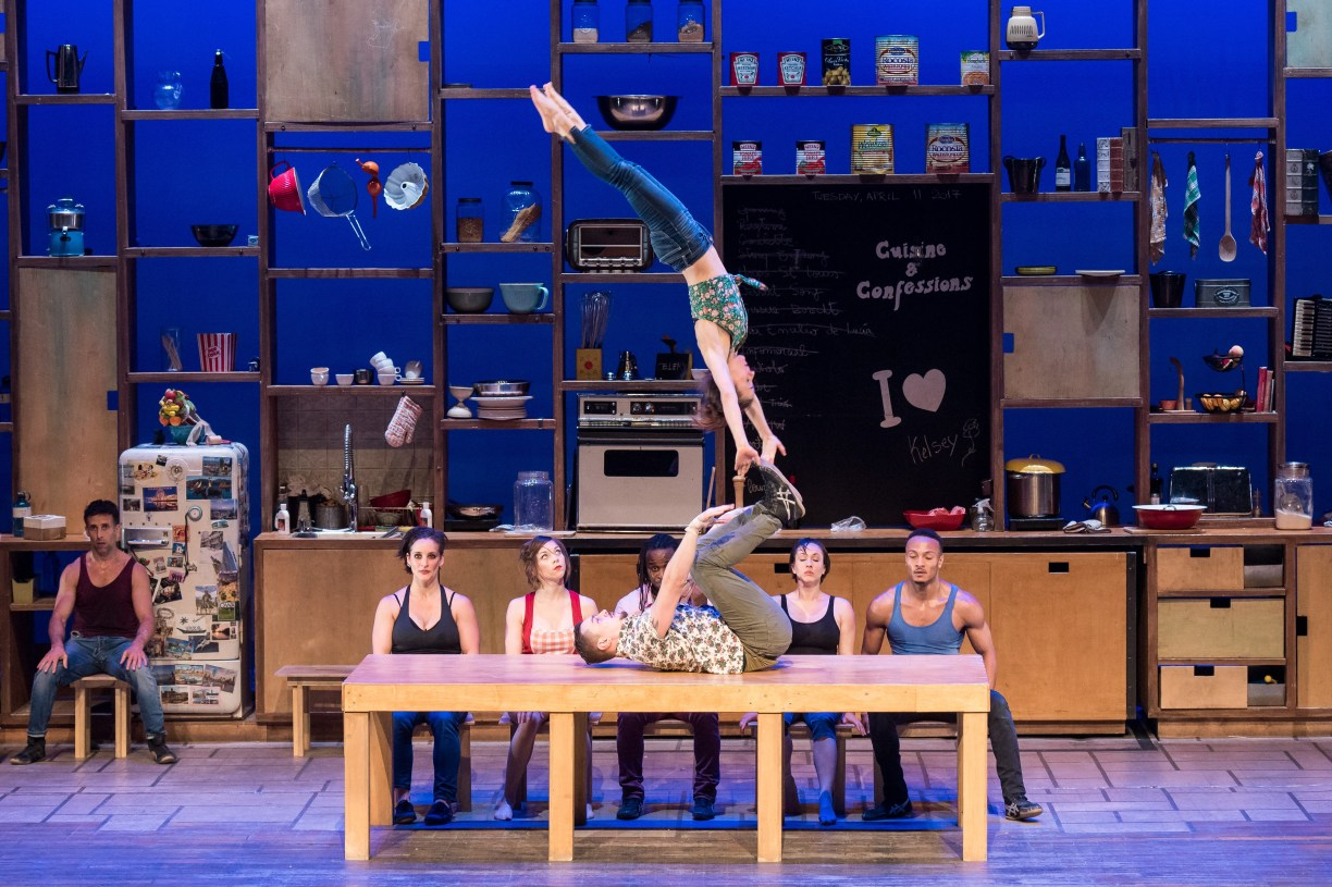 """""""Cuisine & Confessions"""" is a New York premiere by the Montreal-based circus The 7 Fingers"""