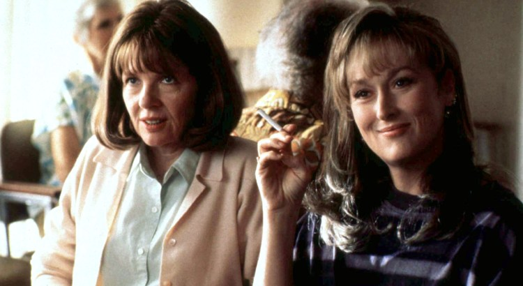 "Actress Meryl Streep (R) is shown with co-star Diane Keaton in a scene from ""Marvin's Room."""