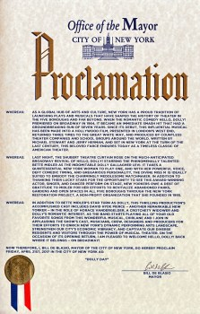 """Dolly Day"" Proclamation"
