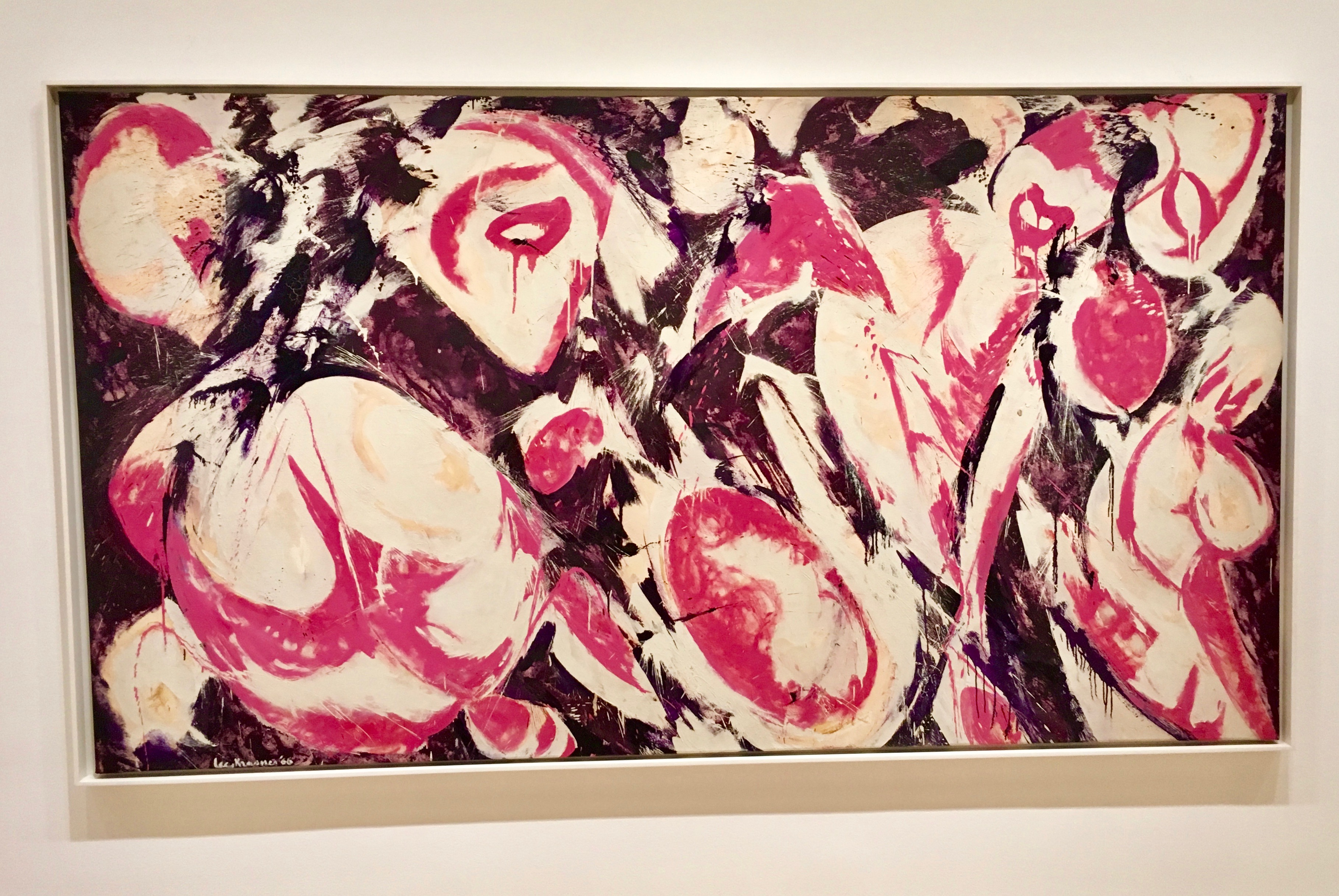 "LEE KRASNER (American, 1908–1984) Gaea 1966 Oil on canvas 69"" x 10' 5 1/2"" (175.3 x 318.8 cm) Kay Sage Tanguy Fund Ellen G. Landau. Lee Krasner: a catalogue raisonne. New York: Abrams, 1995, cat. CR440, pp. 234-235. 212.1977"