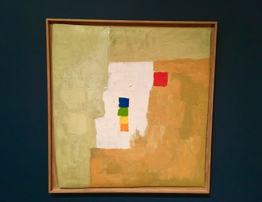 """ETEL ADNAN (American, born Lebanon, 1925) Untitled 1965/1966 Oil on canvas 21 1/4 x 22 5/8"""" (54 × 57.5 cm) Gift of The Riklis Collection of McCrory Corporation and Mrs. Cornelius J. Sullivan Fund (both by exchange) 996.2015"""