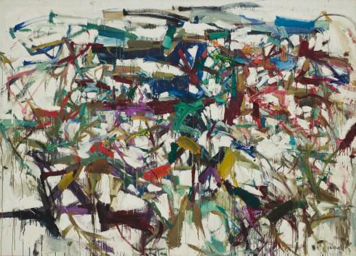 "JOAN MITCHELL (American, 1925–1992) Ladybug 1957 Oil on canvas 6' 5 7/8"" x 9' (197.9 x 274 cm) Purchase 385.1961"