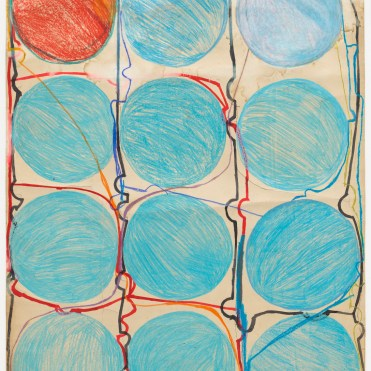 Tanaka, AtsukoAtsuko Tanaka (Japanese, 1932–2005). Untitled. 1956. Watercolor and felt-tip pen on paper, 42 7/8 x 30 3/8″ (108.9 x 77.2 cm). The Museum of Modern Art, New York. Purchased with funds provided by the Edward John Noble Foundation, Frances Keech Fund, and Committee on Drawings Funds, 2010. © 2017 RGener