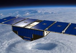 The CYGNSS constellation, launched in 2016, is made up of eight microwave-sized satellites that monitor ocean wind speeds and hurricanes