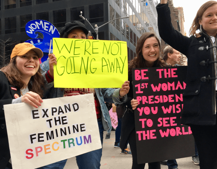 This is What Democracy Looks Like — #womensmarchnyc — iCultWorld News Photo