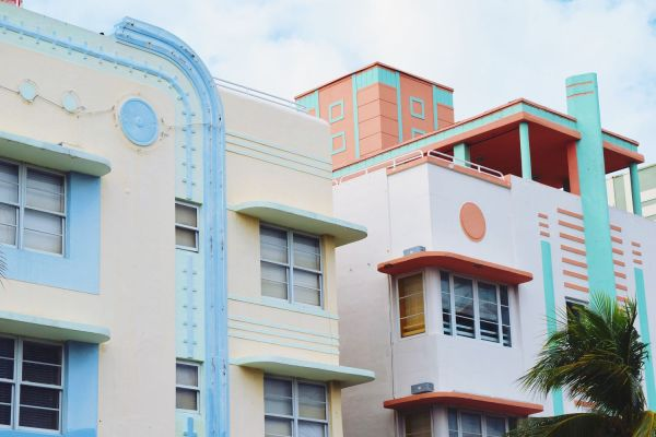 Architecture Art Deco Pastels In Miami