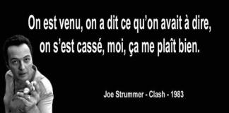 Joe Strummer - Citation