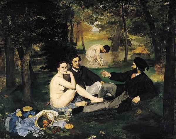 Le Déjeuner sur l'herbe par Edouard Manet