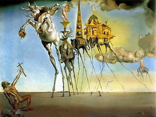 Tableau surréaliste de Dali