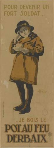 Magritte - affiche : bouillons Pot au feu Derbaix