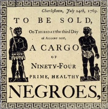 Sale of Negroes
