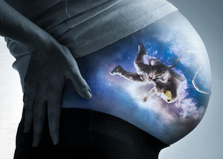 Astronaut in Womb