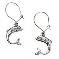 Dolphins Drop Earrings  Sterling Silver | CultureTaste