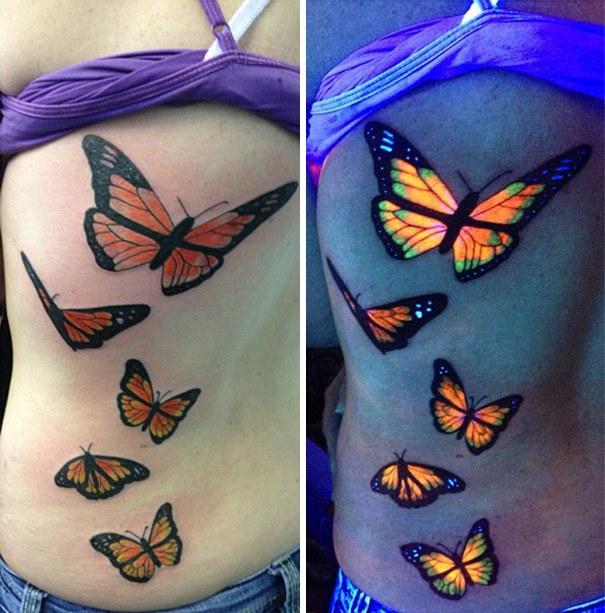 Tatuajes Fluorescentes Tinta Ultravioleta Para No Pasar Desapercibido
