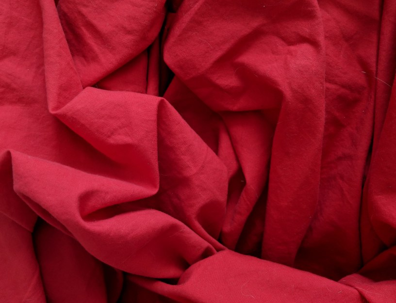 rumpled red sheets