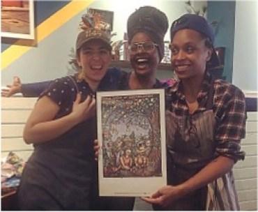 1149 Collective creators Ailbhe Parsons, Jena, and Kenisha Sutherland