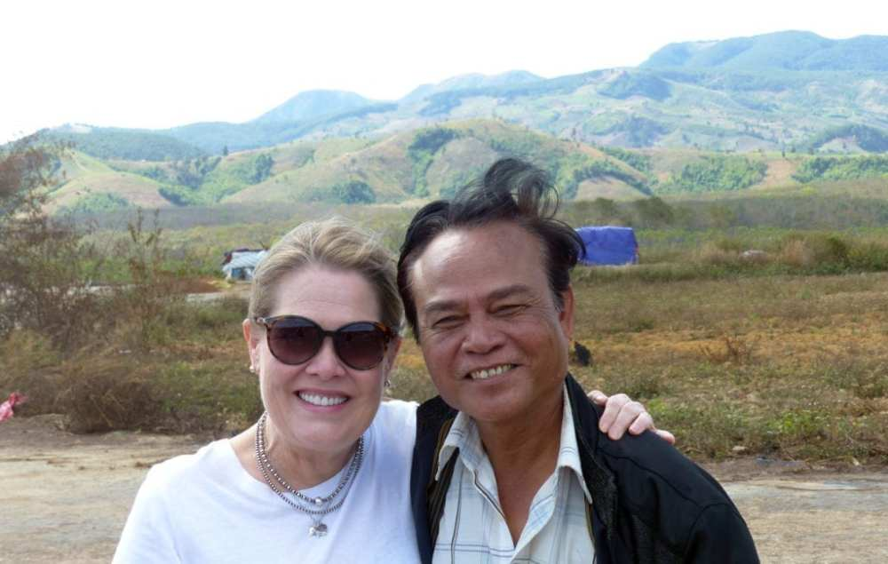 Donna Musil and Central Vietnam guide, Cham