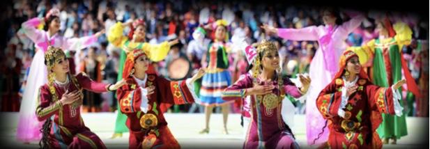 Women in Uzbekistan performing a cultural dance
