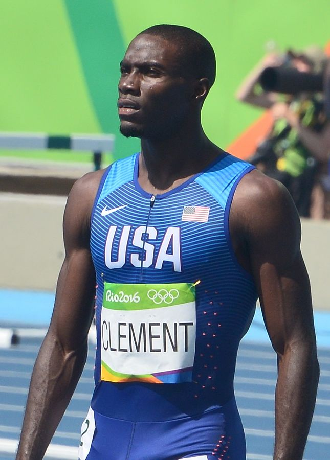 Image of Kerron Clement at 2016 Rio Olympics.