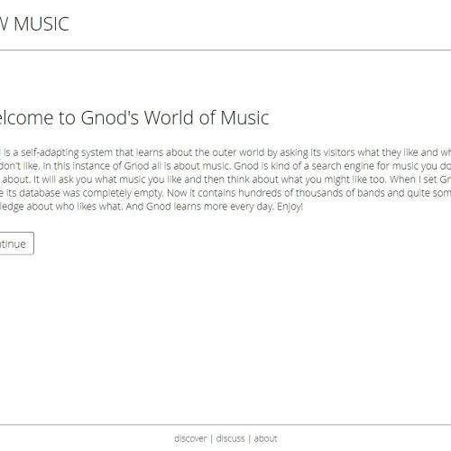 Gnoosic 發掘新音樂丨尋找適合你口味的歌手