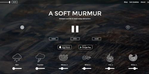 A Soft Murmur 丨海聲風聲雪花聲,一個令你提升工作表現的網站