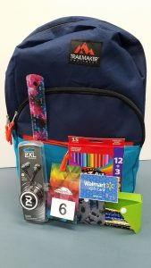 Boy's Backpack Bundle - backpack, Skullcandy earbuds, 12 pencils in a pencil case, colored pencils, ruler and a $25 Walmart gift card - Retail Value $50.