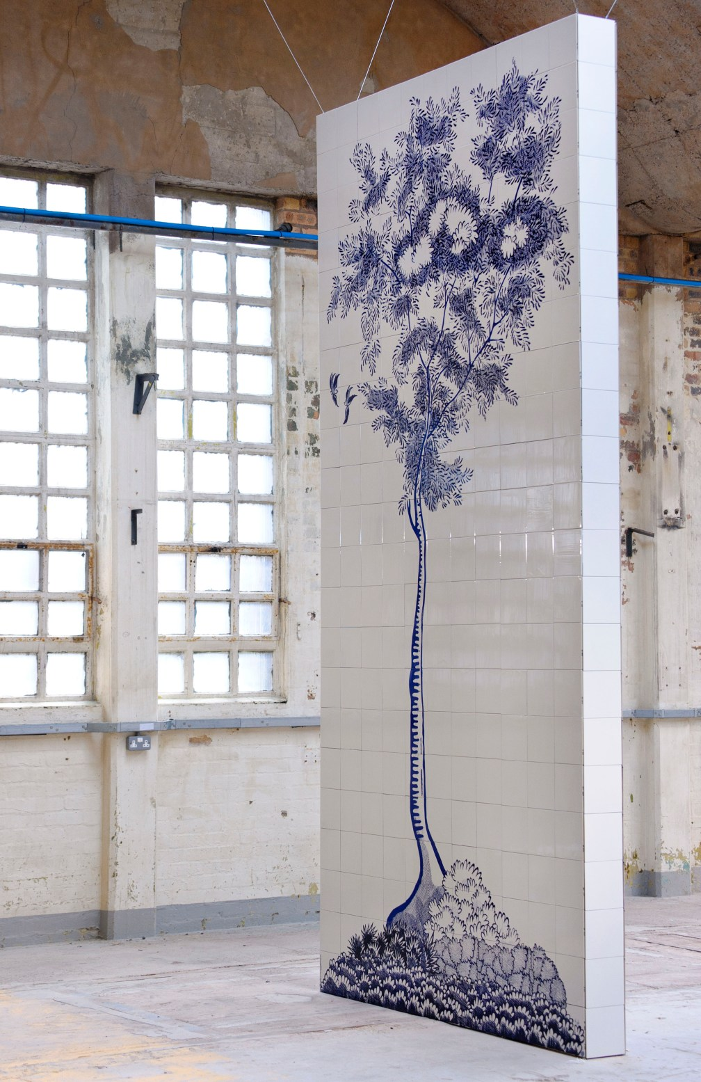 Scott's Cumbrian Blue(s) Tree after Davenport/Spode at the British Ceramics Biennial, September 2015